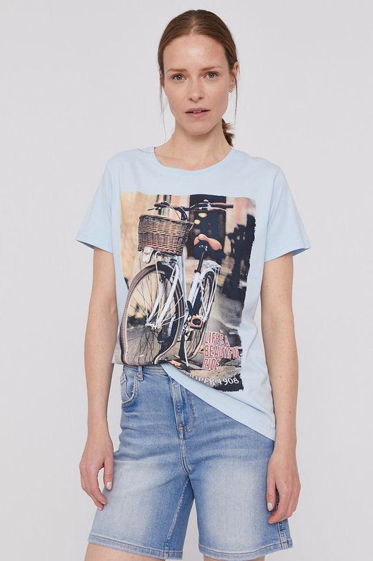niebieski Lee Cooper - T-shirt Damski