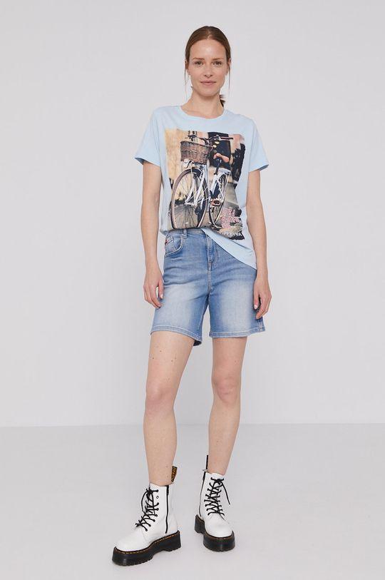 Lee Cooper - T-shirt niebieski