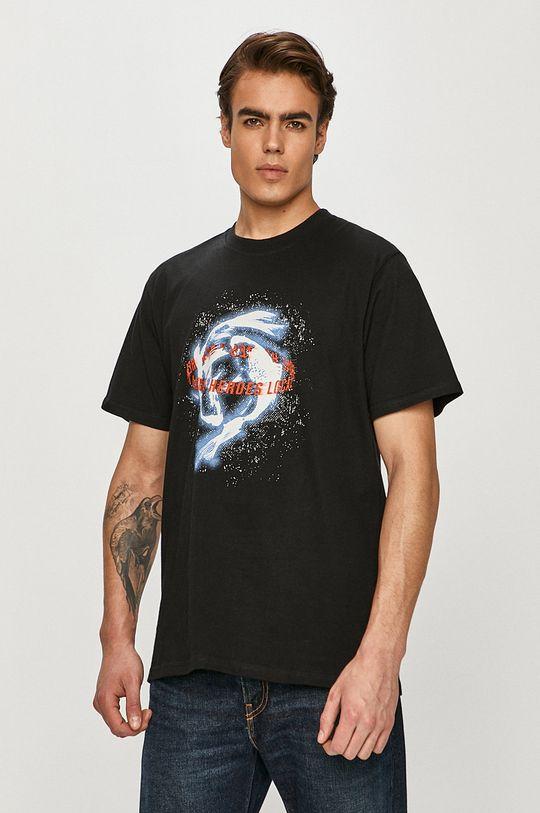 czarny Local Heroes - T-shirt Męski