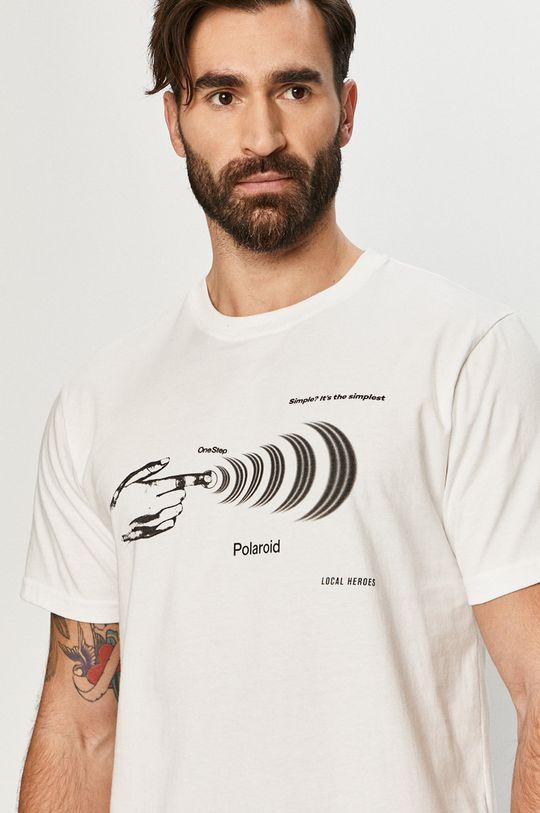 biały Local Heroes - T-shirt x Polaroid Męski