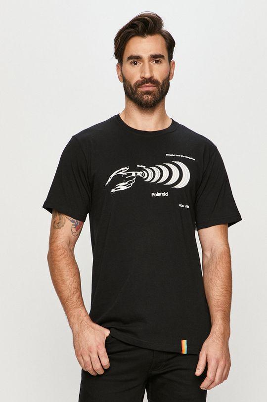 czarny Local Heroes - T-shirt x Polaroid Męski