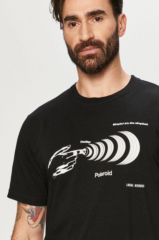czarny Local Heroes - T-shirt x Polaroid