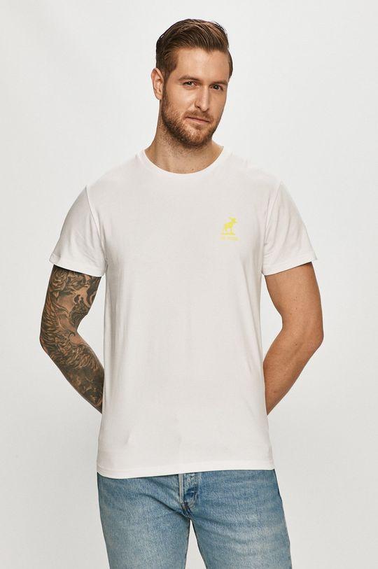 biały Fat Moose - T-shirt Męski