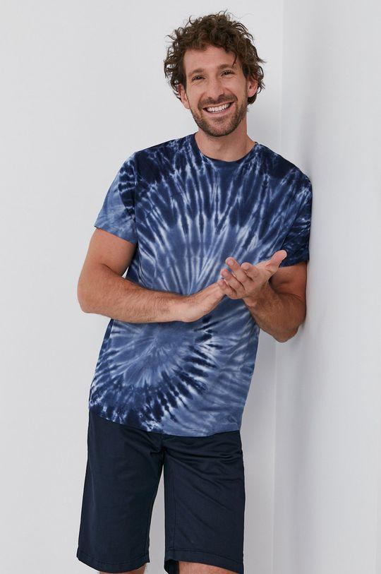 granatowy Bomboogie - T-shirt Męski
