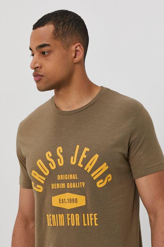 olíva Cross Jeans - T-shirt Férfi