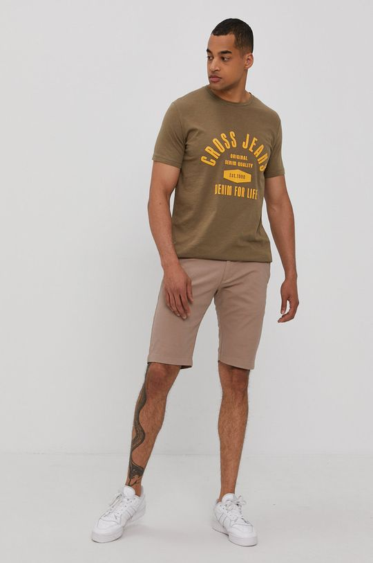 Cross Jeans - T-shirt olíva