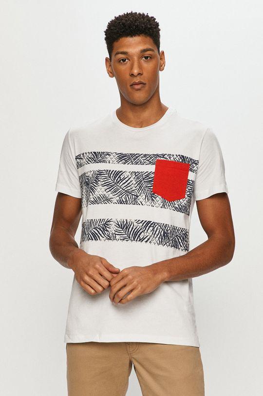 bílá Cross Jeans - Tričko Pánský