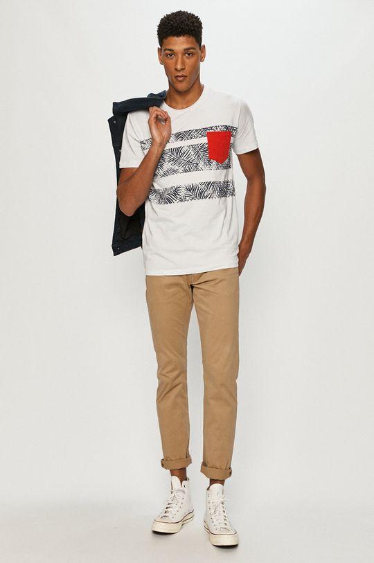 Cross Jeans - Tričko bílá