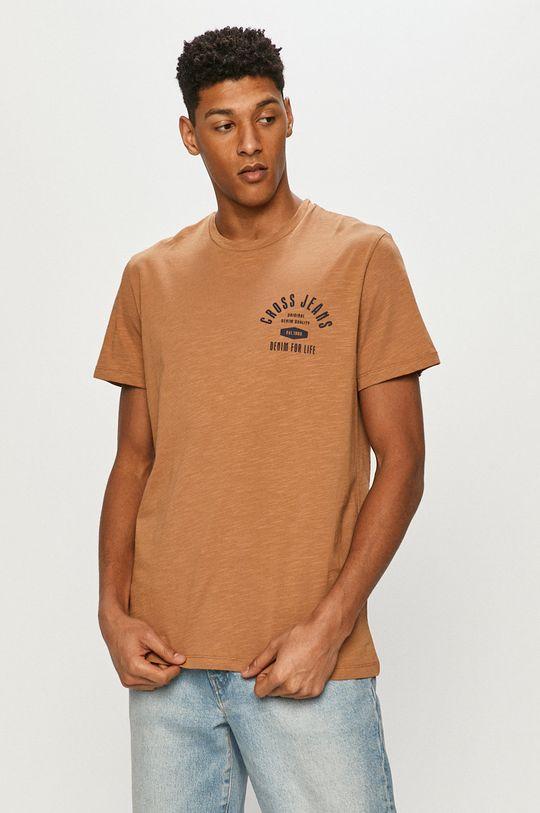 zlatohnědá Cross Jeans - Tričko Pánský