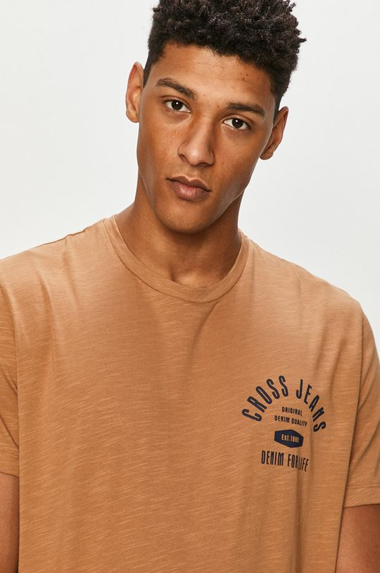 zlatohnědá Cross Jeans - Tričko