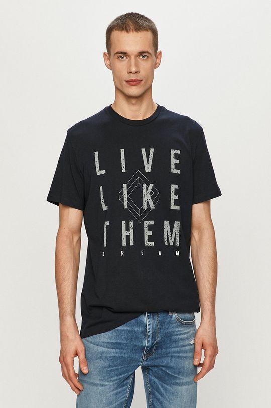 granatowy Cross Jeans - T-shirt Męski