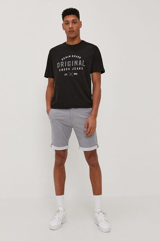Cross Jeans - T-shirt czarny