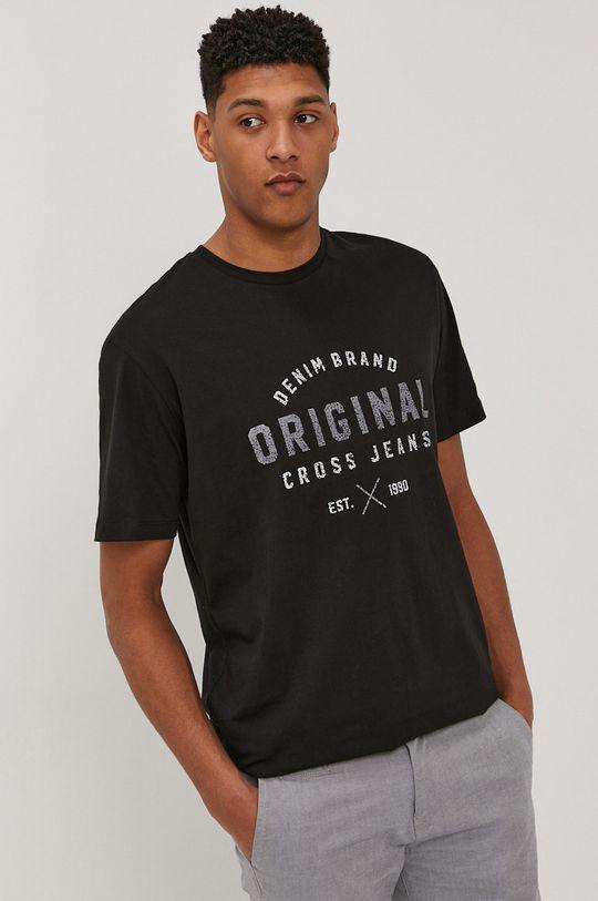 czarny Cross Jeans - T-shirt