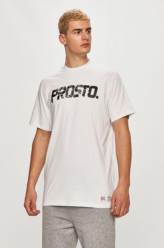 bílá Prosto - Tričko Pánský