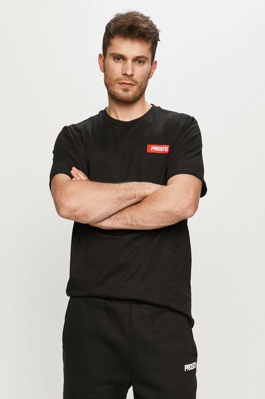 czarny Prosto - T-shirt Męski