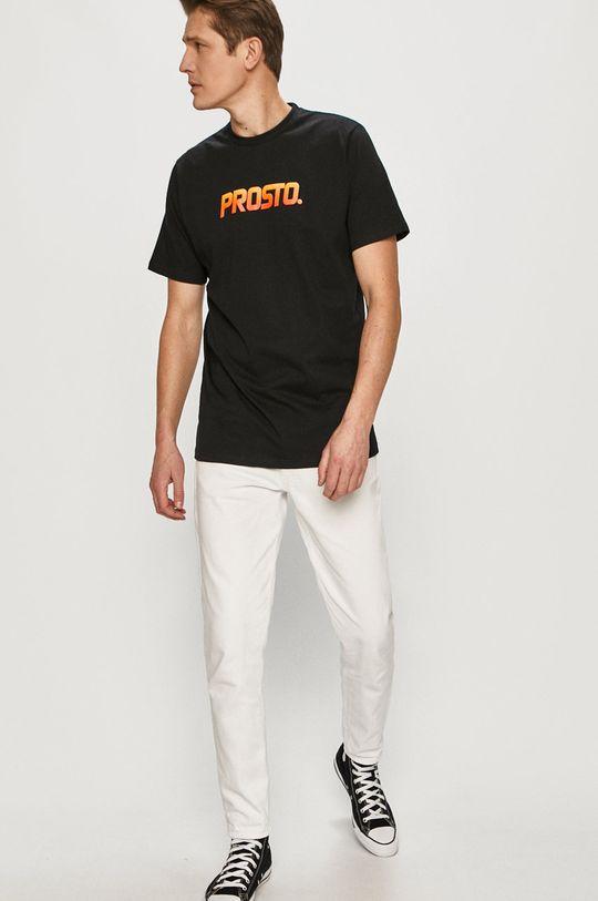 čierna Prosto - Tričko Pánsky