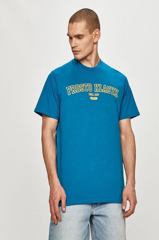 niebieski Prosto - T-shirt Męski