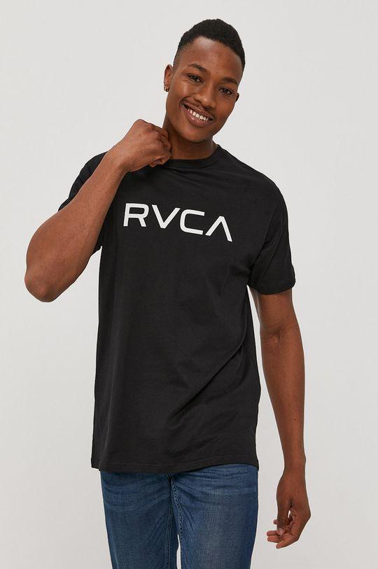 czarny RVCA - T-shirt Męski