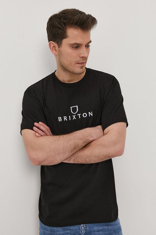 czarny Brixton - T-shirt Męski