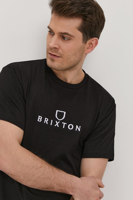 czarny Brixton - T-shirt