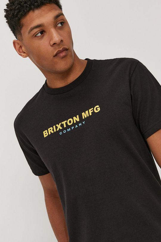 černá Brixton - Tričko Pánský