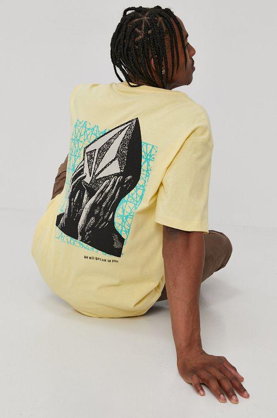 jasny żółty Volcom - T-shirt Męski
