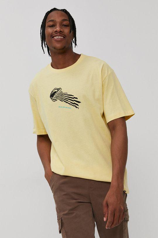 Volcom - T-shirt jasny żółty