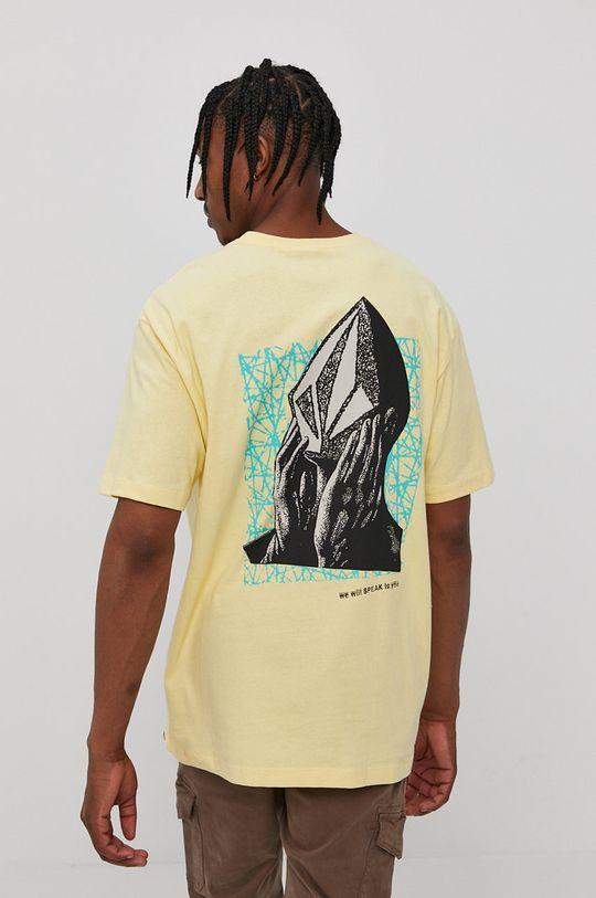 jasny żółty Volcom - T-shirt