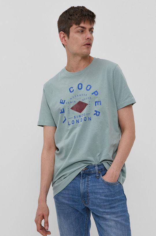 zielony Lee Cooper - T-shirt Męski
