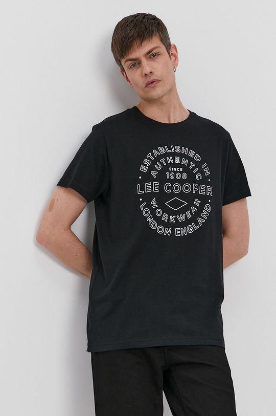 czarny Lee Cooper - T-shirt Męski