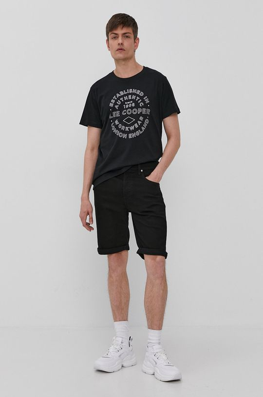 Lee Cooper - T-shirt czarny