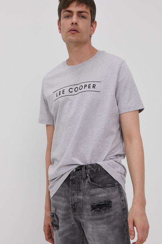 szary Lee Cooper - T-shirt Męski