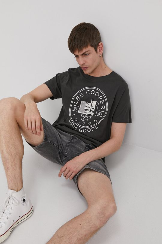 grafitowy Lee Cooper - T-shirt