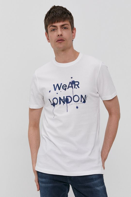 biały Lee Cooper - T-shirt Męski