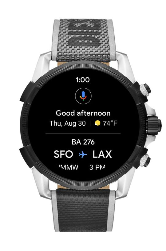 stříbrná Diesel - Smartwatch DZT2012 Pánský