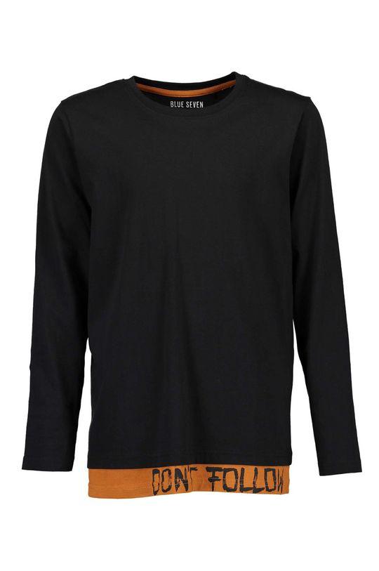 čierna Blue Seven - Detské tričko s dlhým rukávom 140-176 cm Chlapčenský