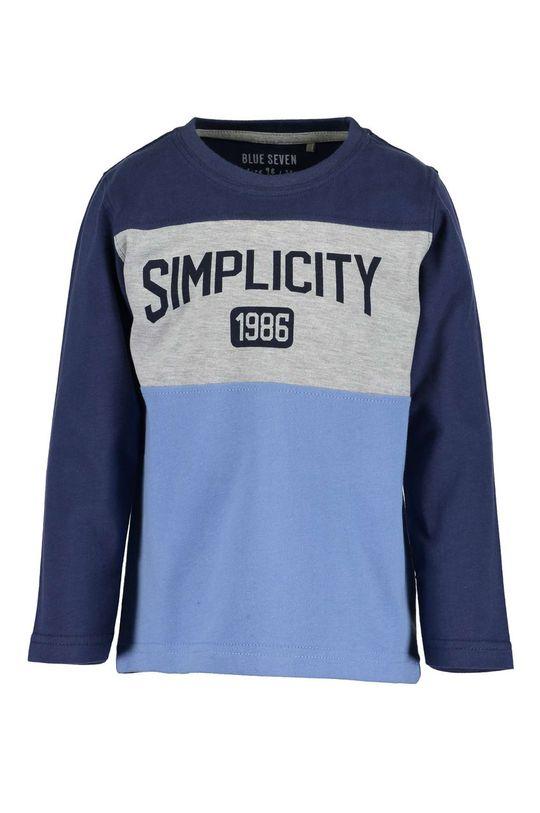 modrá Blue Seven - Detské tričko s dlhým rukávom 92-128 cm Chlapčenský