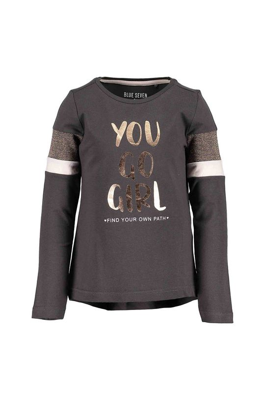 tmavomodrá Blue Seven - Detské tričko s dlhým rukávom 92-128 cm Dievčenský