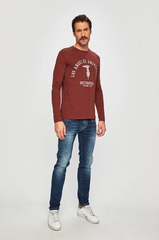 Trussardi Jeans - Tričko s dlouhým rukávem hnědá