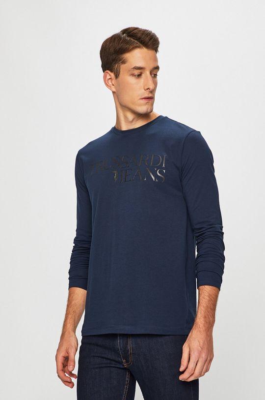 námořnická modř Trussardi Jeans - Tričko s dlouhým rukávem Pánský