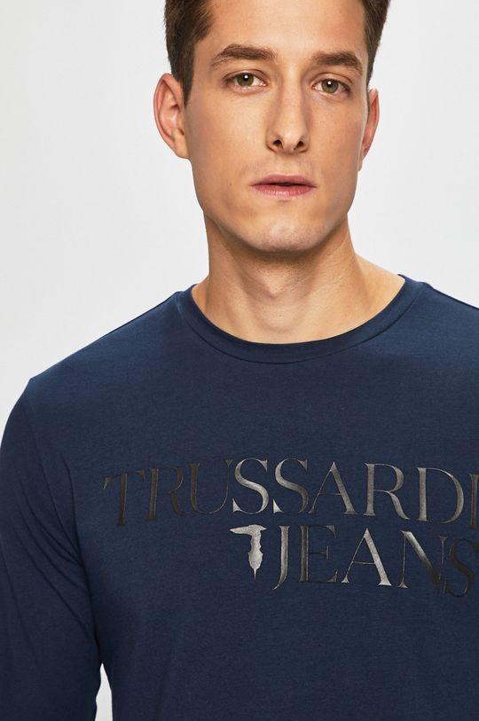 Trussardi Jeans - Tričko s dlouhým rukávem námořnická modř
