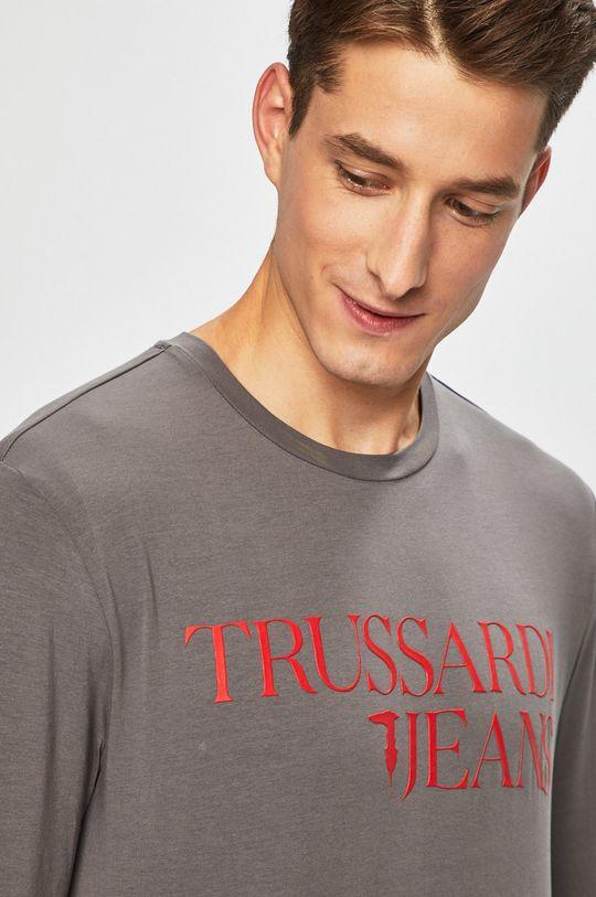 Trussardi Jeans - Tričko s dlouhým rukávem šedá