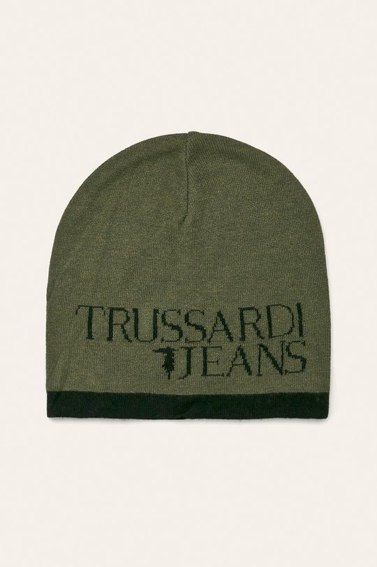 tmavě zelená Trussardi Jeans - Čepice Pánský