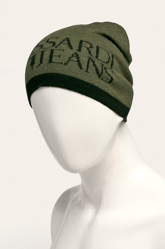 Trussardi Jeans - Čepice tmavě zelená