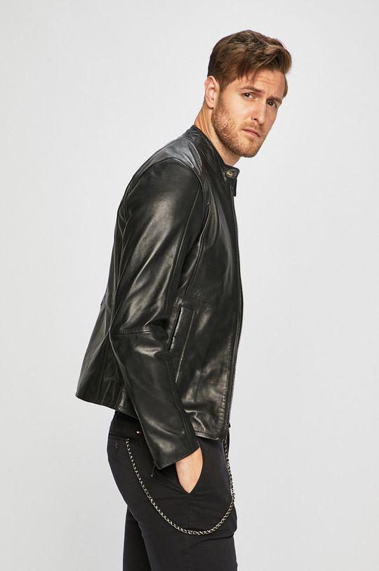černá Trussardi Jeans - Kožená bunda Pánský