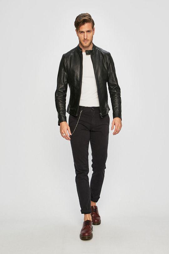 Trussardi Jeans - Kožená bunda Podšívka: 100% Polyester Hlavní materiál: 100% Přírodní kůže