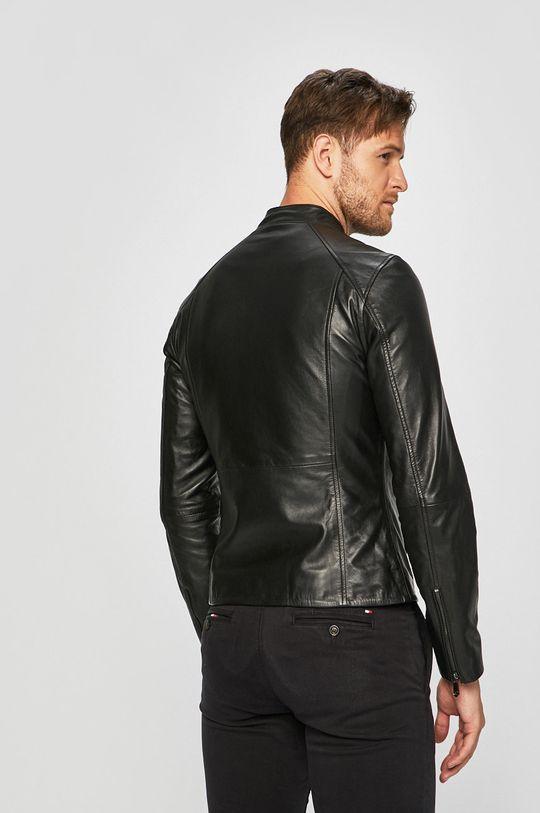 černá Trussardi Jeans - Kožená bunda