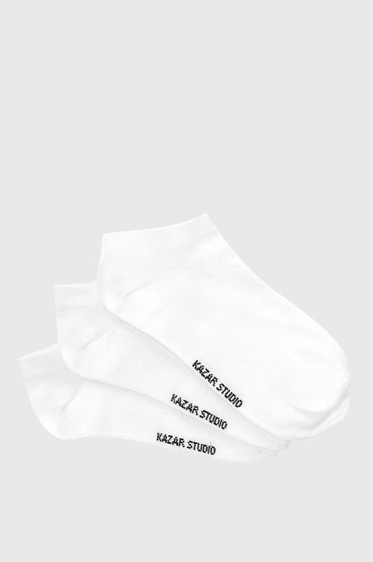 bílá Kazar Studio - Kotníkové ponožky (3-pack) Dámský