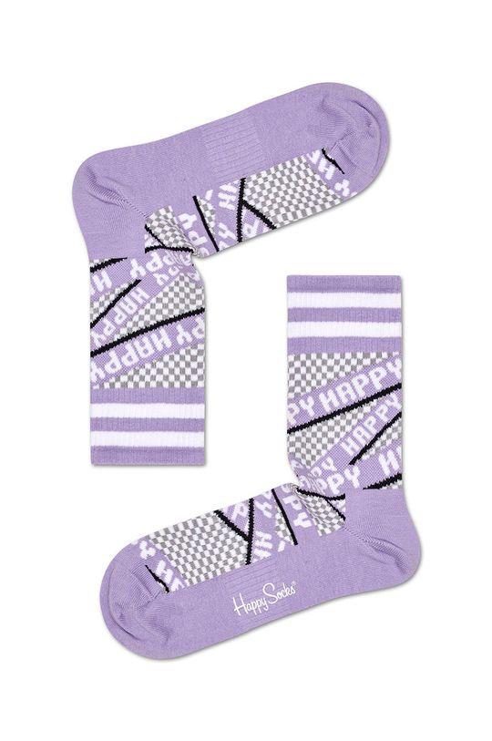 purpurový Happy Socks - Ponožky Dámsky