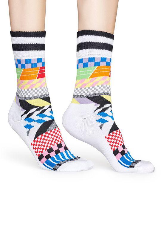 Happy Socks - Ponožky Athletic Sock Chekered biela